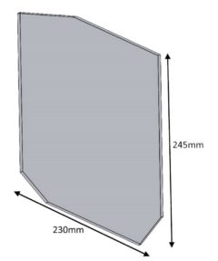 Hunter Herald 14/8 New Door Glass 245 X 230 Shaped
