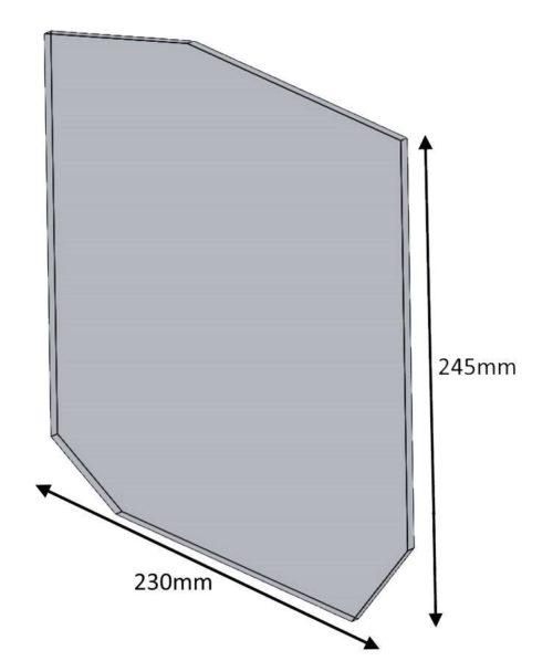 Hunter Herald 14/8 New Door Glass 245 X 230 Shaped
