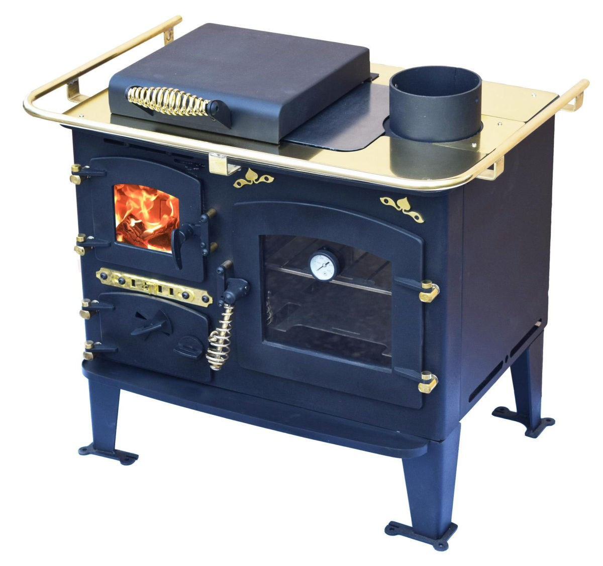 Solid fuel back cabin cooker