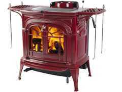 Vermont Intrepid Ii Catalytic Wood Stove In Bordeaux Enamel 0001991-I