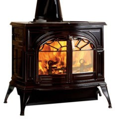 Vermont Defiant Two In One Wood Stove In Majolica Brown 0001977-I
