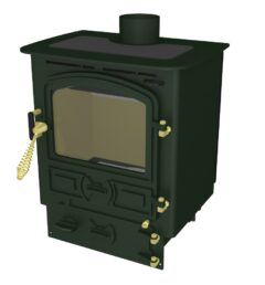 Bubble 4b Multi Fuel Dark Green Stove