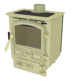 Bubble 4b Multi Fuel Stove Small Boiler In Almond
