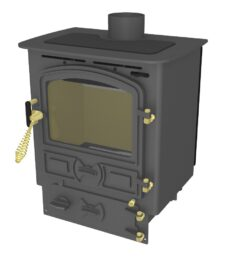 BUBBLE 4B MULTI FUEL STOVE SMALL BOILER ANTHRACITE