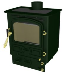 BUBBLE 4B MULTI FUEL STOVE SMALL BOILER GREEN