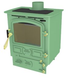 Bubble 4b Multi Fuel Stove Small Boiler Light Green