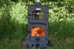 Bubble 4b Oven Stove Multi Fuel Large Boiler Matt Black