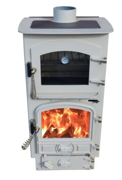 BUBBLE 4B OVEN STOVE MULTI FUEL WITH SMALL BOILER ALMOND