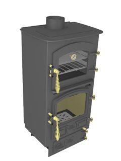 Bubble 4b Oven Stove Multi Fuel Small Boiler Anthracite