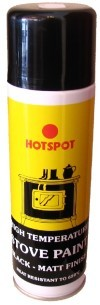 Hotspot Matt Black High Temp Paint 250ml Aerosol