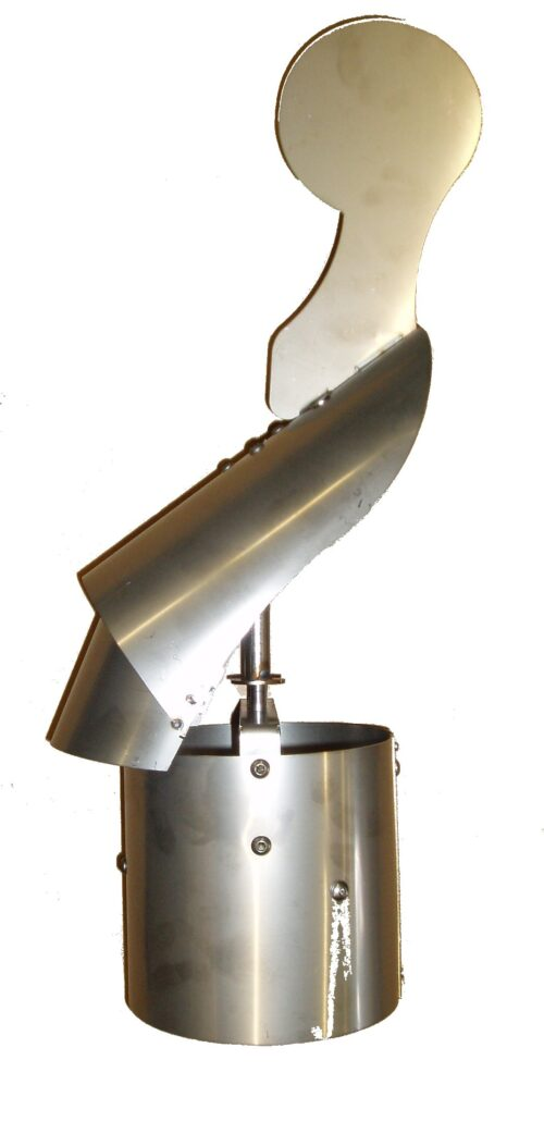 """6"""" Swivel Cowl (150mm Dia) Stainless Steel"""