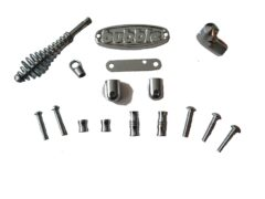Bubble Corner Solid Fuel & Oil Chrome Fitting Kit
