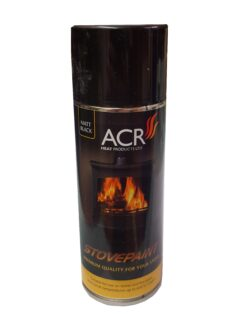 Acr Matt Black Aerosol 400ml Stove Paint
