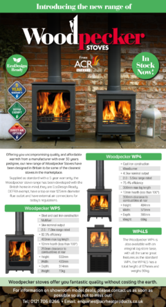 Acr Woodpecker WP4LS Wood Burner On Log Store