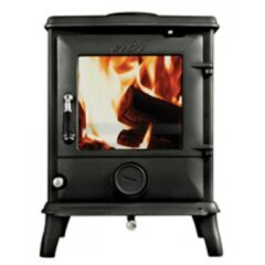 AGA LUDLOW SMOKE EXCEPT WOOD STOVE MATT BLACK