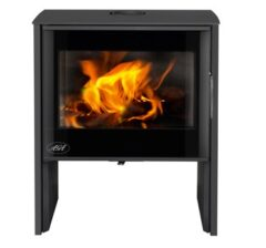 AGA HANWOOD SMOKE EXEMPT GRAPHITE WOOD STOVE