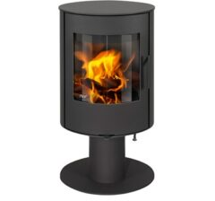 Aga Lawley With Pedestal Smoke Exempt Graphite Wood Stove