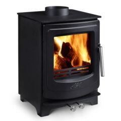 AGA ELLESMERE EC5 SMOKE EXEMPT MATT BLACK MULTI FUEL STOVE