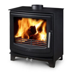 AGA ELLESMERE EC5 WIDE SMOKE EXEMPT MATT BLACK MULTI FUEL STOVE
