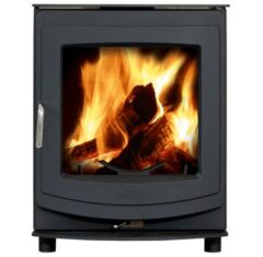 Aga Ellesmere 6 Smoke Exempt Matt Black Multi Fuel Stove
