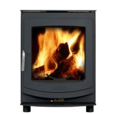 Aga Ellesmere 5 Smoke Exempt Matt Black Multi Fuel Stove