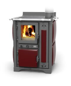 Thermorossi Bosky 30 Country Boiler Red Vintage Vitrified Multifuel
