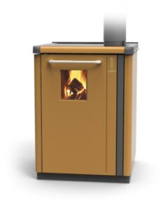 Thermorossi Bosky 30 Boiler In Caramel With Vitrified Boiler Multifuel