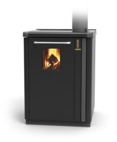 Thermorossi Bosky 30 Boiler In Gunmetal With Vitrified Boiler Multifuel
