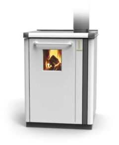 Thermorossi Bosky 30 Boiler In White With Vitrified Boiler Multifuel