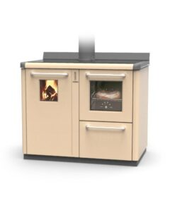 Thermorossi Bosky F30 Cooker In Beige With Vitrified Boiler Multifuel