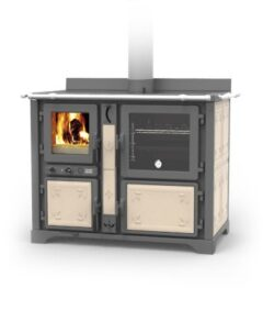 Thermorossi Bosky F30 Country Cooker Vitrified In Fiori Beige Multifuel
