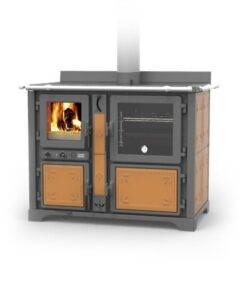 Thermorossi Bosky F30 Country Cooker Vitrified In Fiori Sand Multifuel