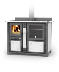 Thermorossi Bosky F30 Country Cooker Vitrified In Fiori White Multifuel