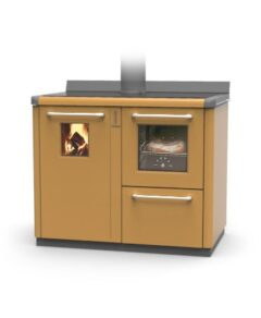 Thermorossi Bosky F30 Cooker In Caramel With Vitrified Boiler Multifuel