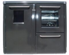 Thermorossi Bosky F30 Cooker In Gunmetal With Vitrified Boiler Multifuel