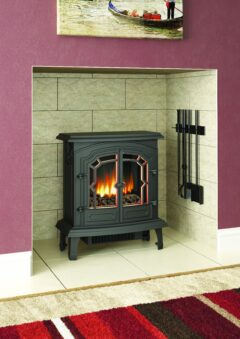BROSELEY LINCOLN ELECTRIC MATT BLACK STOVE