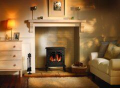 Broseley Lincoln Slim Coals Gas M/b Remote Stove