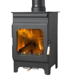 BURLEY HOLLYWELL 5KW BLACK WOOD BURNING STOVE