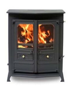CHARNWOOD COUNTRY 14B M/F MATT BLACK  STOVE