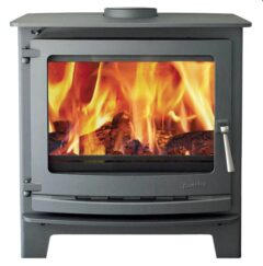 Dunsley Avance 500 Black Std Chrome Wood Stove