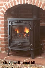 Franco Belge Savoy 1740802 28 Sec Oil 8kw Stove Cast Black