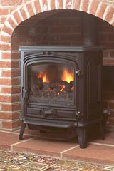 Franco Belge Savoy Oil Stove Matt Black 1740802y