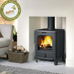 Jotul F145 Wood 100mm Legs As Standard Matt Black Stove ( 30050663 )