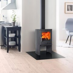 Jotul F145 Wood Matt Black Convector Side Stove ( 30050663 )