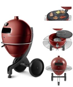 POB PBQ BLACK FREE STANDING PYROLYTIC PELLET BARBECUE ON WHEELS