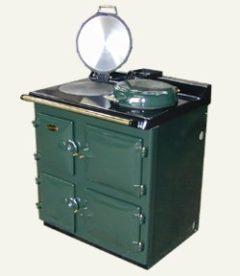 Sandyford Cooker Cottage Oil Green With Boiler C/h