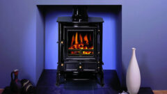 Stovax  Brunel Multi Fuel Stove 1a  Midnight Blue