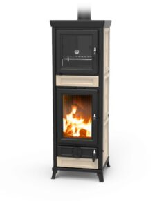 Thermorossi Anna Maiolica Beige Wood Stove With Oven Only Part Code:WANNABEIG