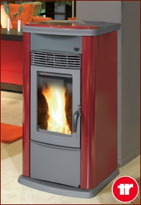 THERMOROSSI ECOTHERM H2O 18 PELLET STOVE METAL CLARET PANELS