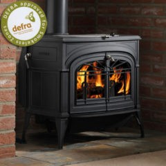 Vermont Defiant Two In One Wood Stove In Classic Black 0001975-I